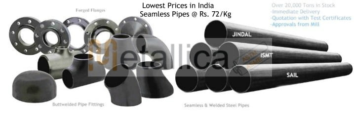 Jindal SAIl ISMT Dealer of Steel Pipes in Mumbai, Delhi, Kolkatta India - Latest Prices for Carbon Steel Pipes