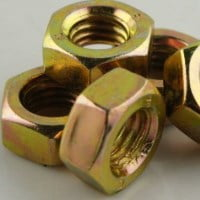 Stainless Steel Nuts Yellow Zinc Coating